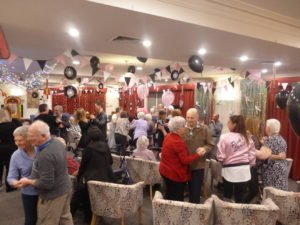Residents dancing at the Elvis Rock and Roll Night