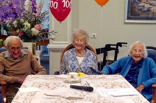 Three Residents at Sea Views Manor turn One Hundred