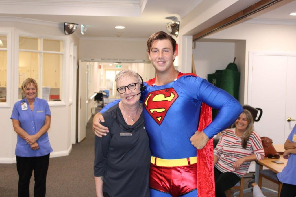 Superman meets our Receptionist Caitlyn