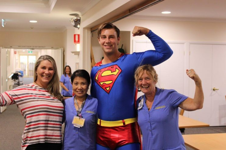 Superman visits our Team at Sea Views Manor