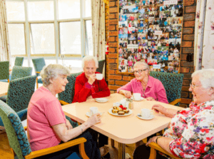 Making new friends at an Aged Care Facility